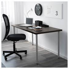 Ikea Desks Office Linnmon Adils Table Black Brown Black Ikea