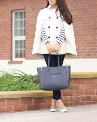 stylishpetite com ann taylor trench cape stripe shoulder zip