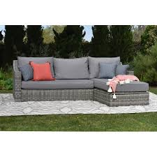 elle decor vallauris storage sectional with cushions u0026 reviews