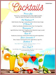 wedding bar menu template drinks menu templates templates franklinfire co