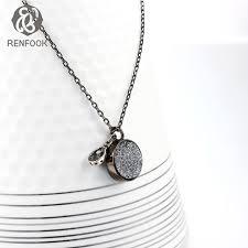 black natural stone necklace images Black 925 silver black men chain male necklace natural stone jpg