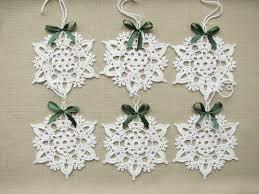 snowflakes crochet christmas decors xmas tree ornaments