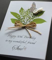 a5 handmade personalised lily of the valley birthday card sister