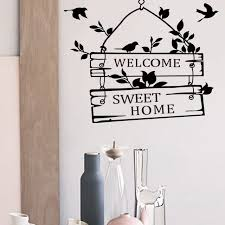 home sweet home decorations welcome sweet home decoration wall decals decorative removable vinyl