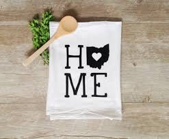 tea towel customized state tea towel any state personalized