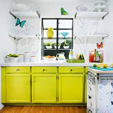 kitchens with shelves green tips for stylishly stocking that open kitchen shelving