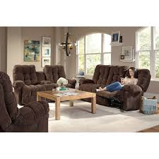 power space saver reclining loveseat with storage console by best