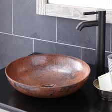 native trails copper sink new bathroom vessel sinks inside kohani curved copper sink native