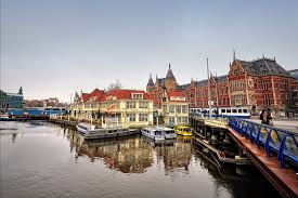 online get cheap amsterdam poster aliexpress com alibaba group home decoration amsterdam canal central station river silk fabric poster print 002fj china