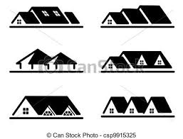 home logo icon home icon set different home roof icon set stock illustrations