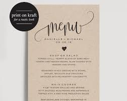 editable menu templates 37 wedding menu template free sle exle format