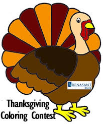 look a thanksgiving coloring contest