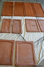 how to prepare painted cabinets for repainting painting kitchen cabinets imperfectly polished
