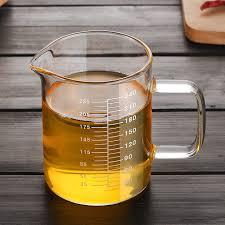 Minyak Goreng Gelas heat resistant glass measuring cups 240ml kitchen accessories