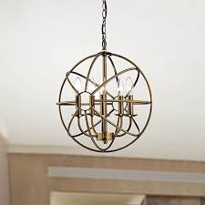 American Made Chandeliers Attractive Round Globe Chandelier Lai178 E14 American Country Iron