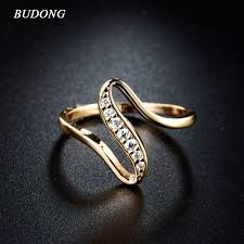 fingers rings gold images Budong 2017 women finger rings gold color engagement wedding rings jpeg