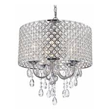 Crystal Chandelier Crystal Chrome Chandelier Pendant Light With Crystal Beaded Drum