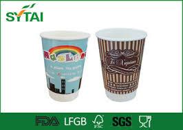 bicchieri di carta personalizzati once compostabili doppia parete di carta tazze personalizzato