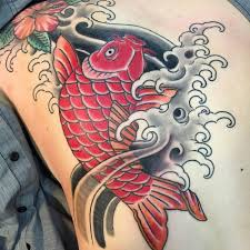 koi fish tattoo color meaning pictures to pin on pinterest