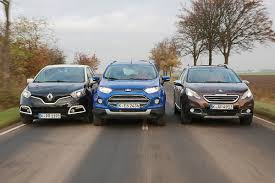 compare peugeot cars renault captur vs peugeot 2008 vs ford ecosport youtube