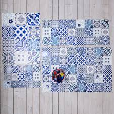 spanish blues tile mats vinyl tile mats graham u0026 green