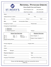 100 home health care forms templates physical therapy
