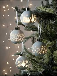 tree decorations traditional glass baubles uk