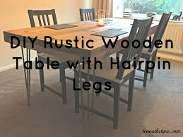 Rustic Dining Room Sets Diy Tutorial Rustic Dining Table With Hairpin Legs Tea On The