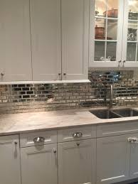 Mirror Backsplash Kitchen Simply White Kitchen Cabinet Taj Mahal Quartzite Mirrored Subway