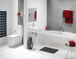 modern white bathroom suites ideas with mosaic tile walls - Bathroom Suites Ideas
