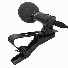 amazon com lavalier lapel microphone clip on omnidirectional