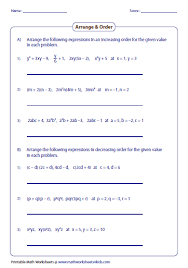 evaluating algebraic expressions worksheets 5th grade on format