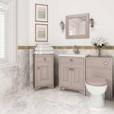 york traditional grey ash bathroom furniture wc unit basin