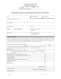 Renovation Budget Spreadsheet by Bathroom Remodel Contract Sample Renovation Contract Template