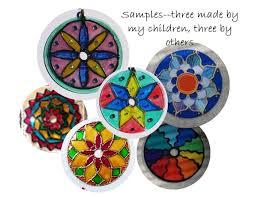 7 stained glass mandala kit easter craft garden decor mandala