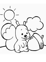 squirrel coloring pages children print color clip art