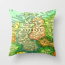 frankfurt on world map germany pillow cover map of germany pillow frankfurt berlin