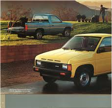 1987 nissan hardbody truck d21 dealer brochure us market nicoclub