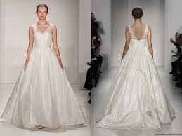 amsale fall 2015 ball gown wedding dress with illusion v neckline