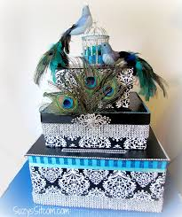 diy wedding card box wedding decor on a budget diy card box
