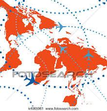 aereo clipart clipart coloridos linha a礬rea avi禝es viagem v禊os tr磧fego