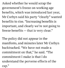thank god corbyn called for the benefit cap to be completely