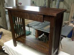 Walnut Sofa Table by Hand Crafted Mission Style Walnut Sofa Table By Db Custom Wood