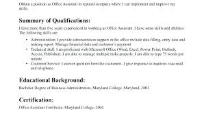 Psychology Resume Sample Resume For Office Assistant With No Experience Free Resume