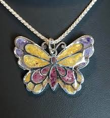 flowers with butterfly necklace images Leslie adams memorial jewelry from your flowers leather