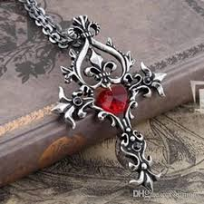 gothic heart necklace images Wholesale vampire diaries sacred heart cross necklace movie jpg