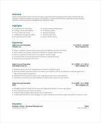 sales executive resume templates 9 free word pdf format
