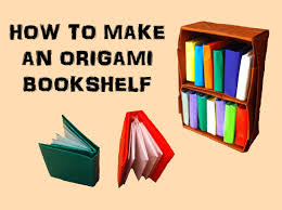 how to make an origami bookshelf youtube