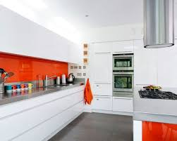 Orange And White Kitchen Ideas Contemporary Kitchen Design White Kitchen Cabinets And Orange