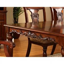 dining room sets solid wood seymour 9pc formal dining turned legs dark oak finish solid wood